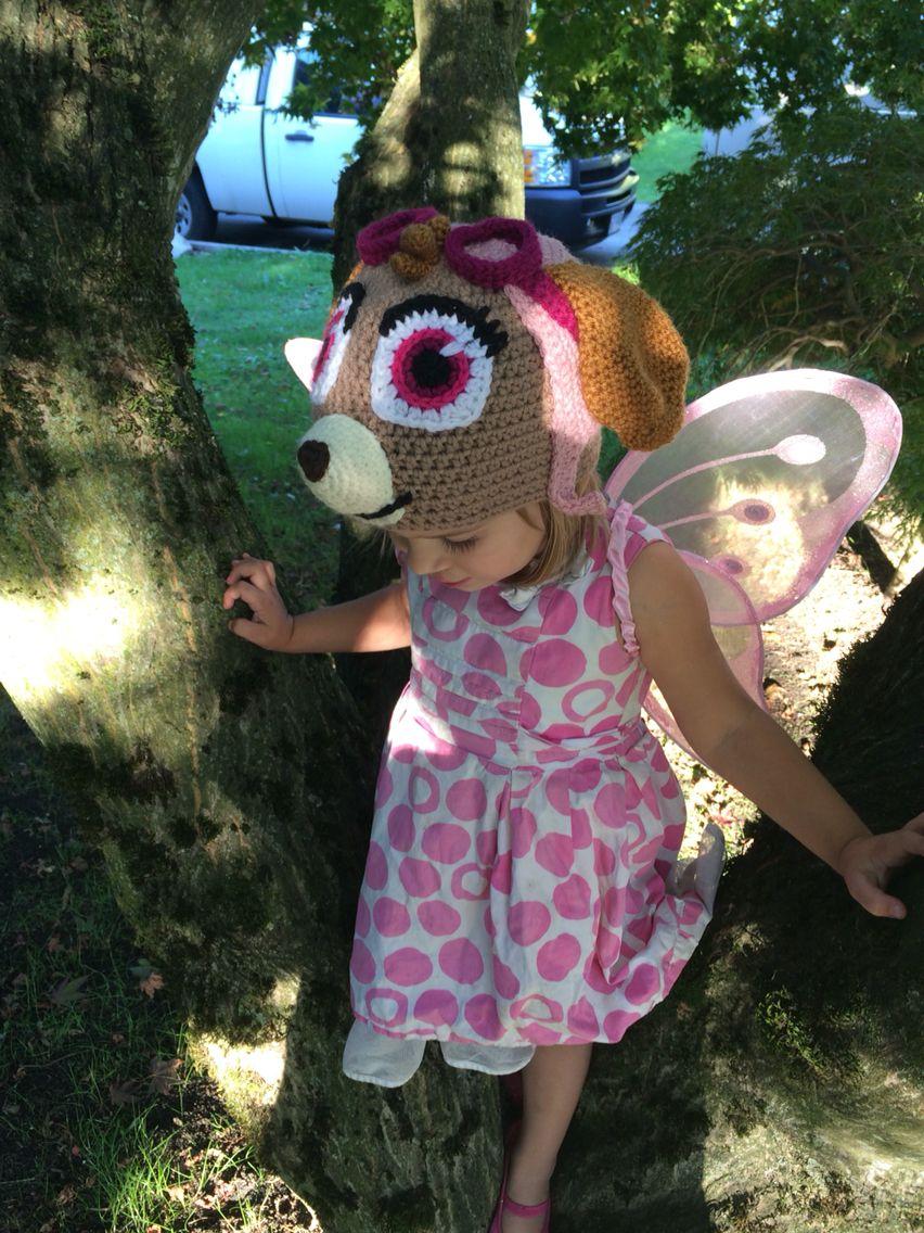 Crochet Skye inspired hat from Paw Patrol #Skye #PawPatrol #Crochet ...