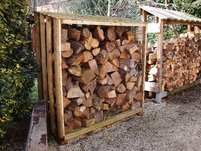Log Stores; Logs Should Be Exposed To Sun And Wind, Protected From Rain