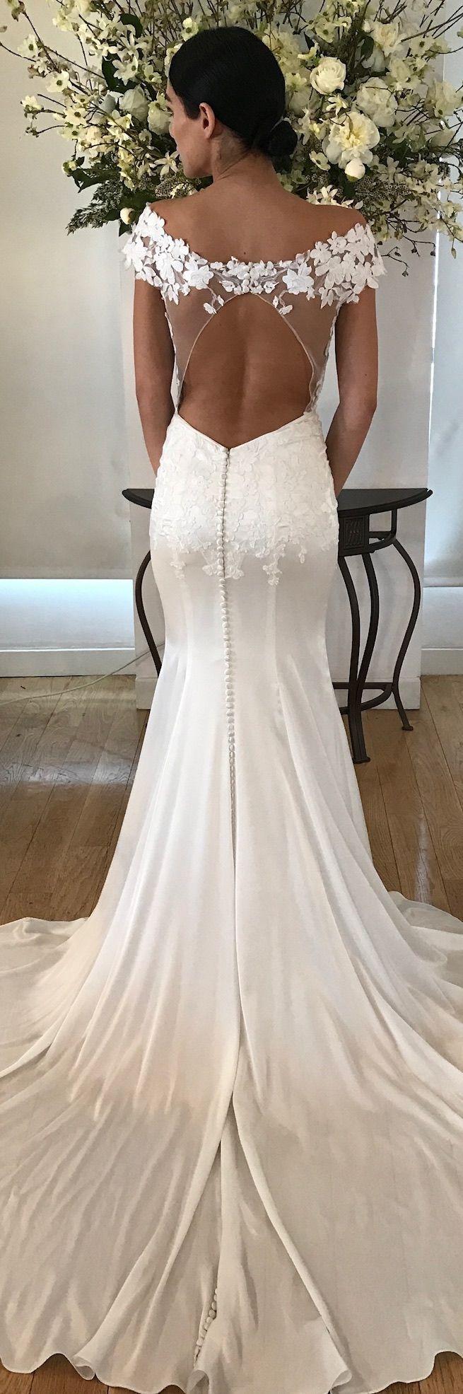 Emilia wedding dress by kelly faetanini silk stretch sating fit