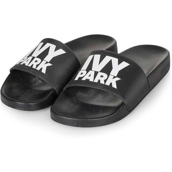 fc9aa7cc37d9 Logo Slider by Ivy Park (£20) ❤ liked on Polyvore featuring shoes ...