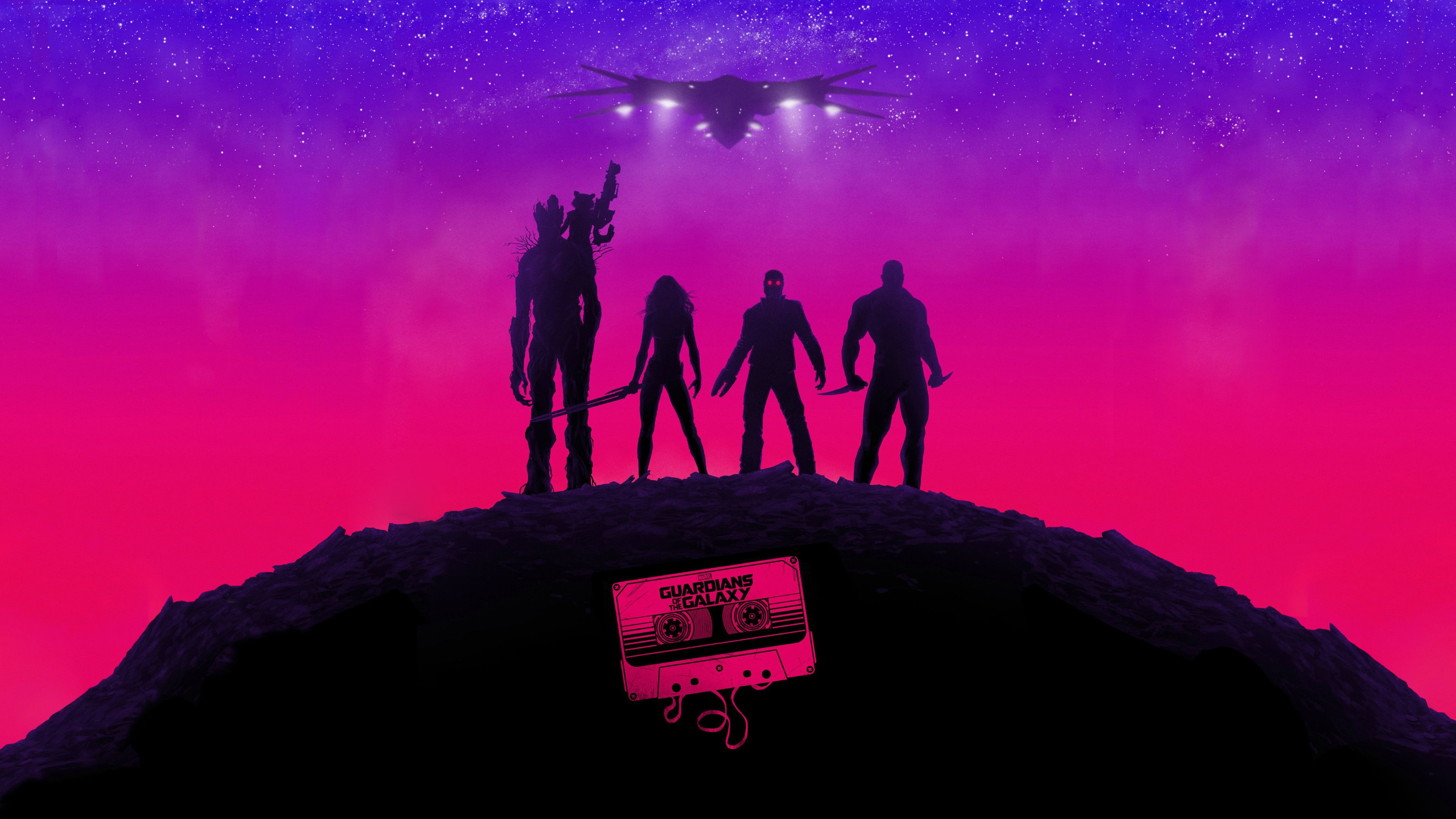 Guardians Of The Galaxy Wallpaper That I Modded From One Of The Posters 3840x2160 R Marvel Galaxy Poster Galaxy Art Guardians Of The Galaxy