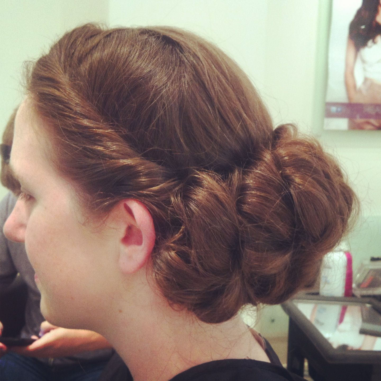 Simple elegant vintage hair up do x era hairstyles pinterest
