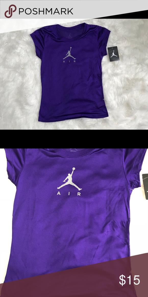 Girls purple Jordan Dri fit tee
