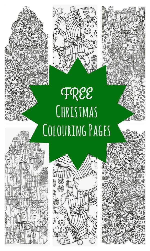 5 Absolutely Free Beautiful Christmas Colouring Pages | Laminas para ...