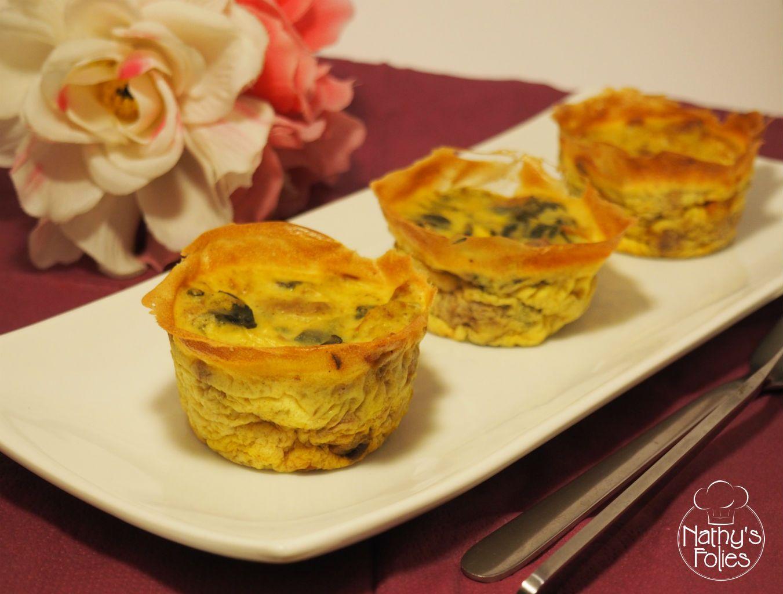 Flans aux épinards, noix et curry sans lactose - Nathy's Folies