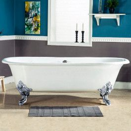 A Cast Iron Clawfoot Tub For Two 72 Inches Long