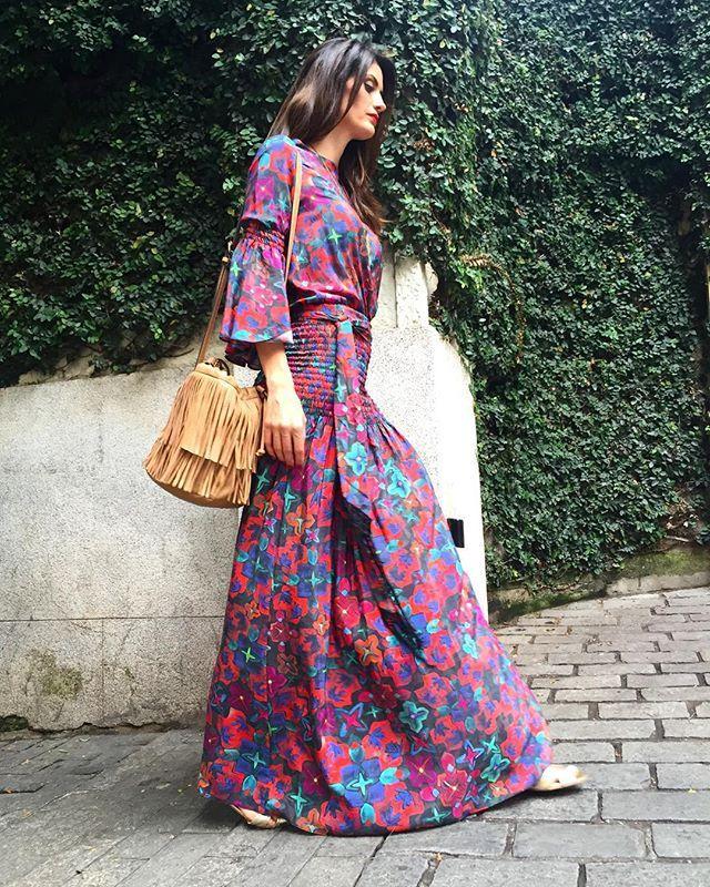 Vestido Longo Nó Listrado Blogueira