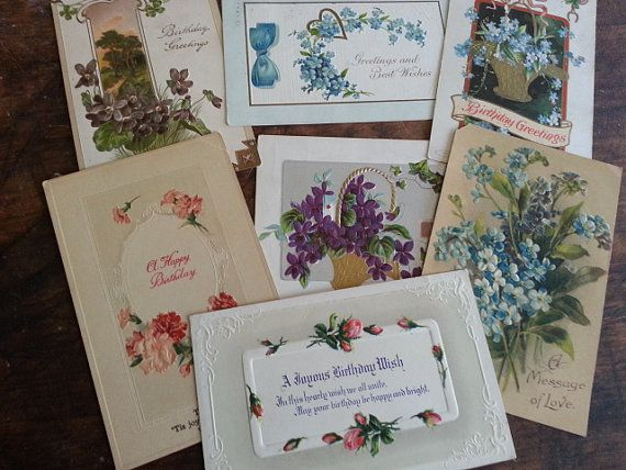 Seven Victorian Era Postcards. Lovely Antique by BlackSheepYarns