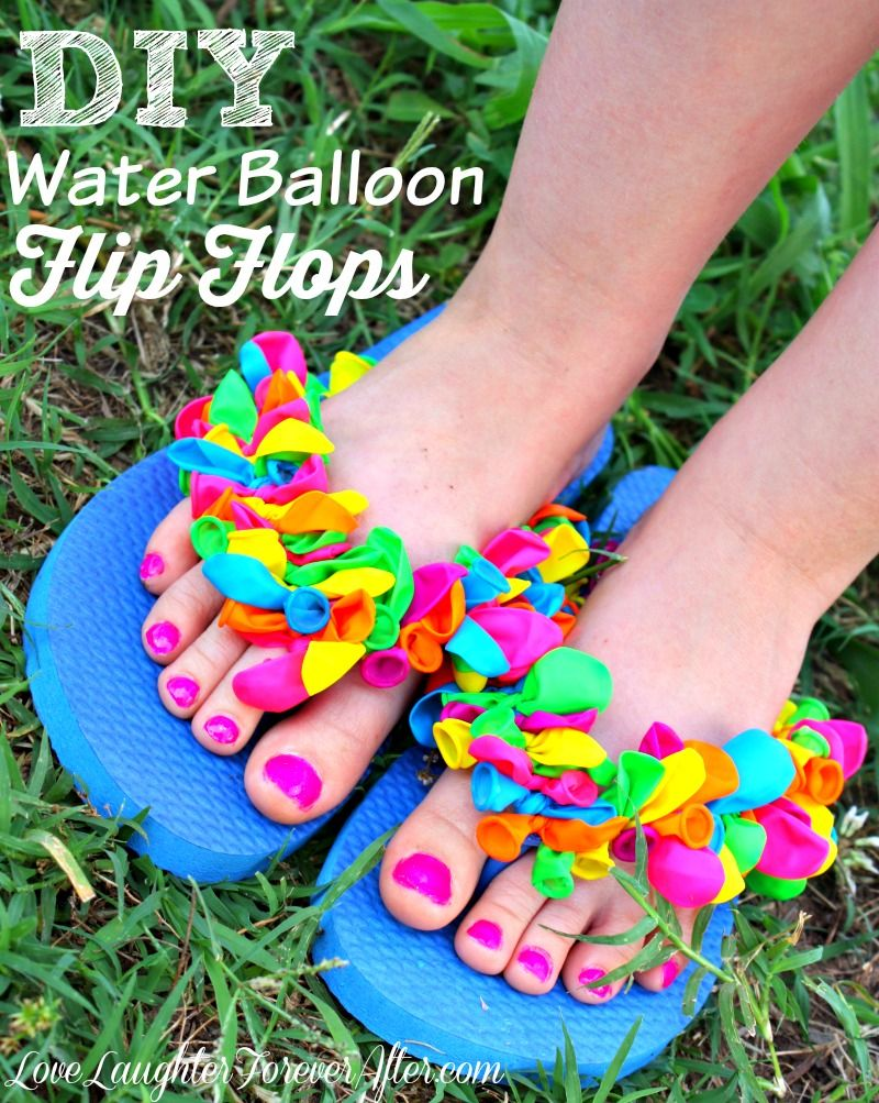 adc2c216e3c How cute are these flip flops  You can make summer memories last by making  your own water balloon flip flops.  Lenovo  sponsored