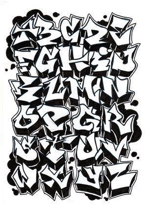 graffitti street art names letters alphabet paint spray cans