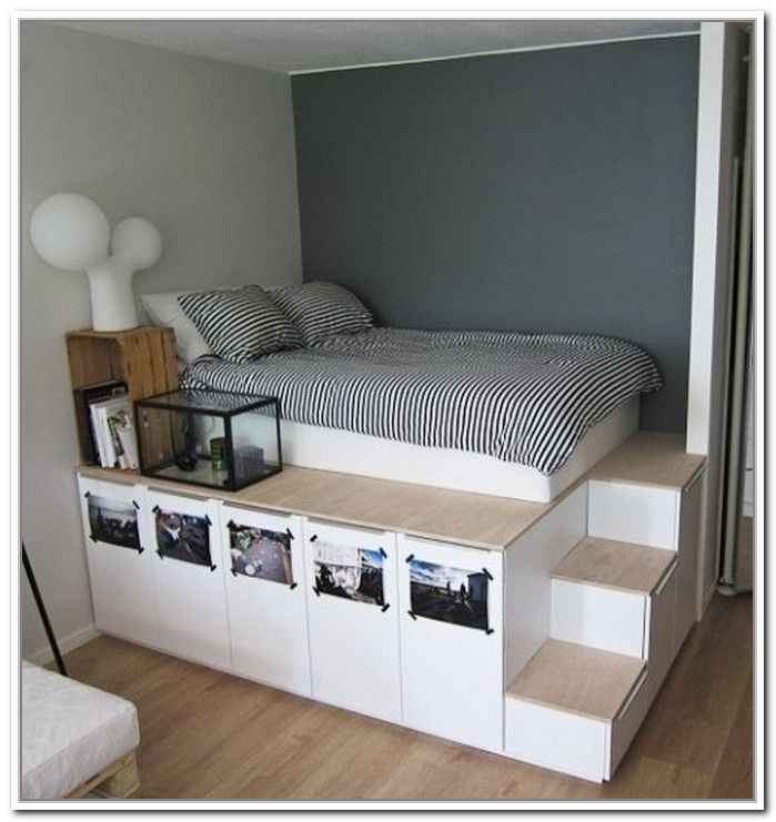 elevated bed Google Search Platform bed with storage