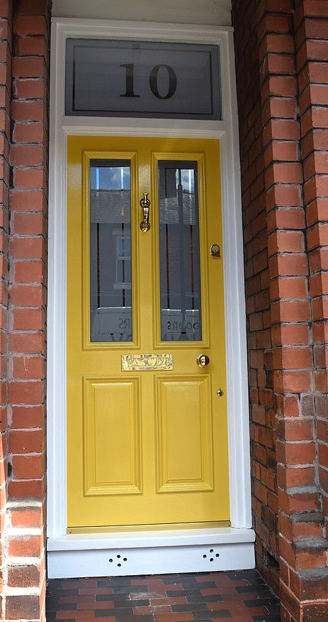 Traditional Wooden Grand Victorian Front Door With Etched