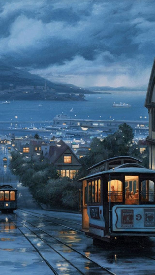Mountains Night Trains San francisco cable car