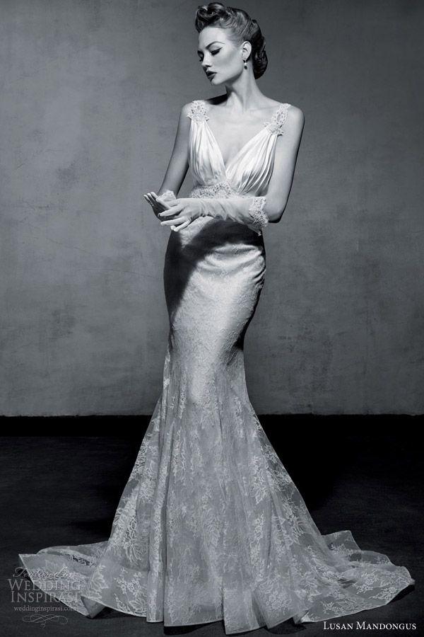 Lusan Mandongus 2013 Wedding Dresses | Vintage glamour, Wedding ...