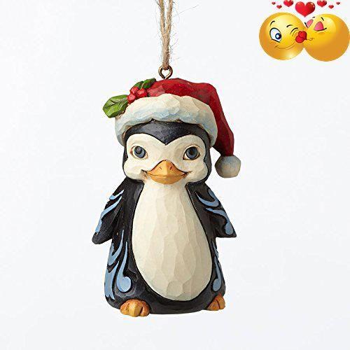 Jim Shore Heartwood Creek Christmas Penguin with Santa Hat Mini