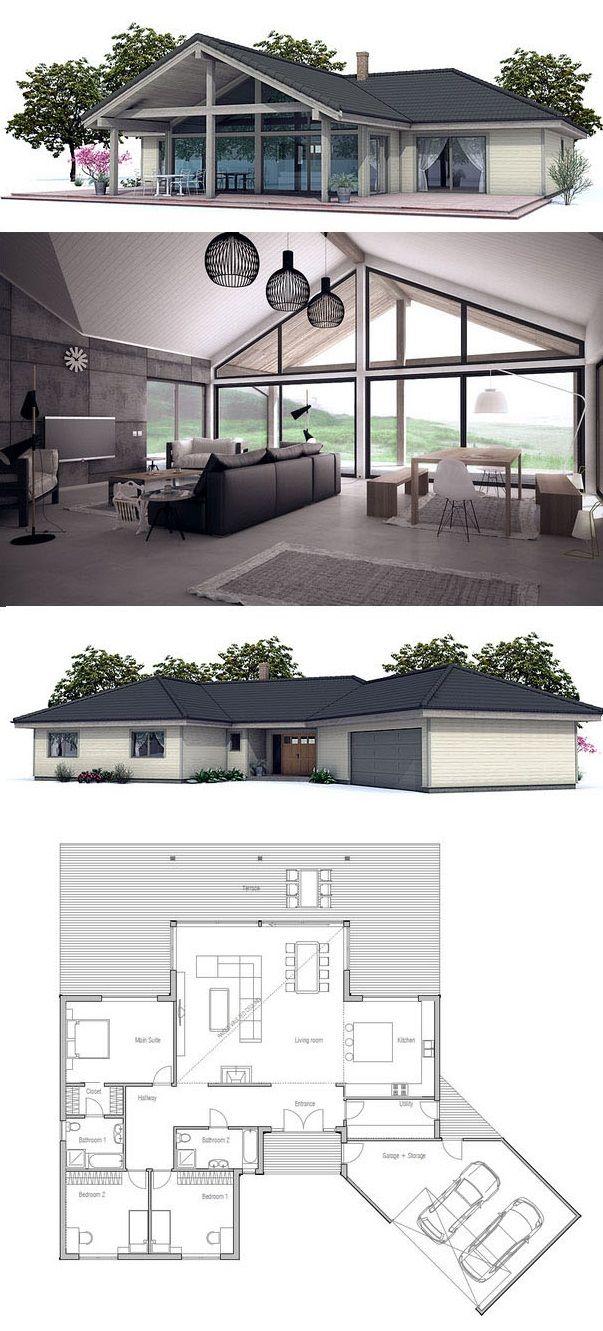 Hausplan, Hausbau, Grundriss, Architectur #smallmodernfarmhouseplans