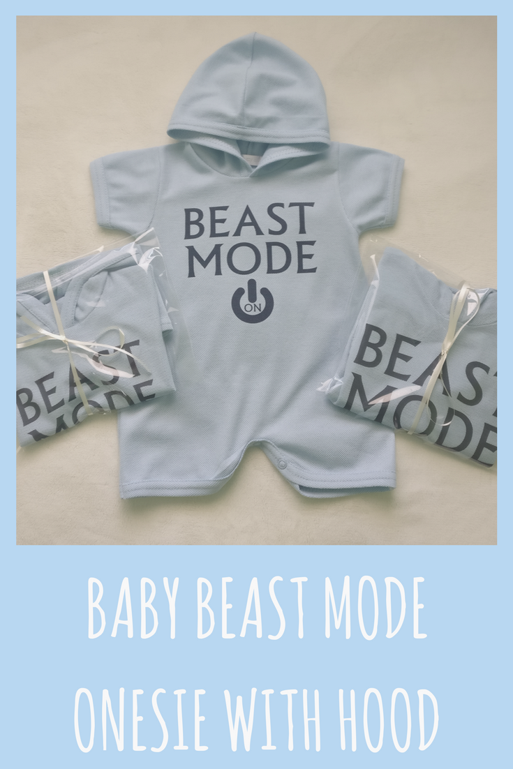 Baby Beast Mode Onesie With Hood Perfect For Springtime And Summer