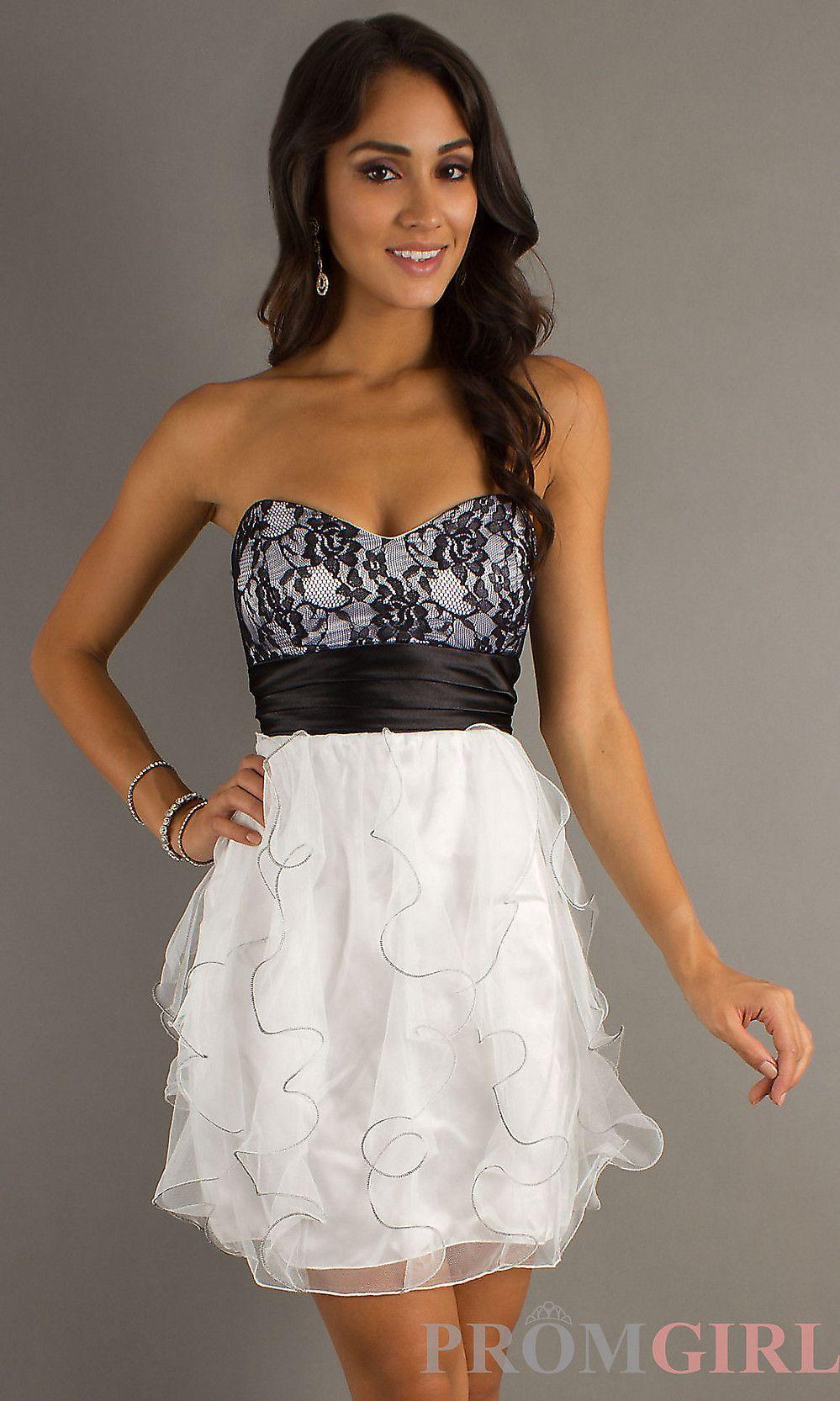 2429b7f2037 Short Strapless Prom Dresses
