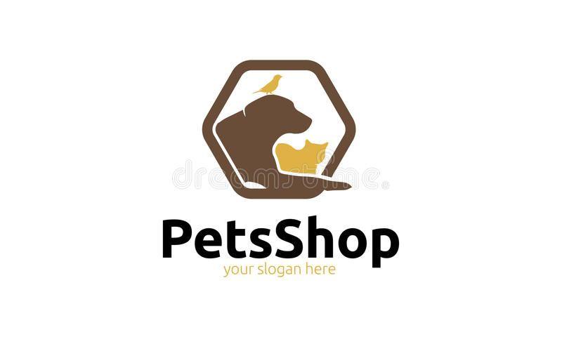 Pets Shop Logo Minimalist And Modern Pets Shop Logo Template
