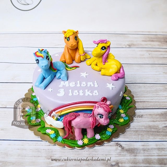 146BD Tort z kucykami My Little Pony Przyja to magia Rainbow