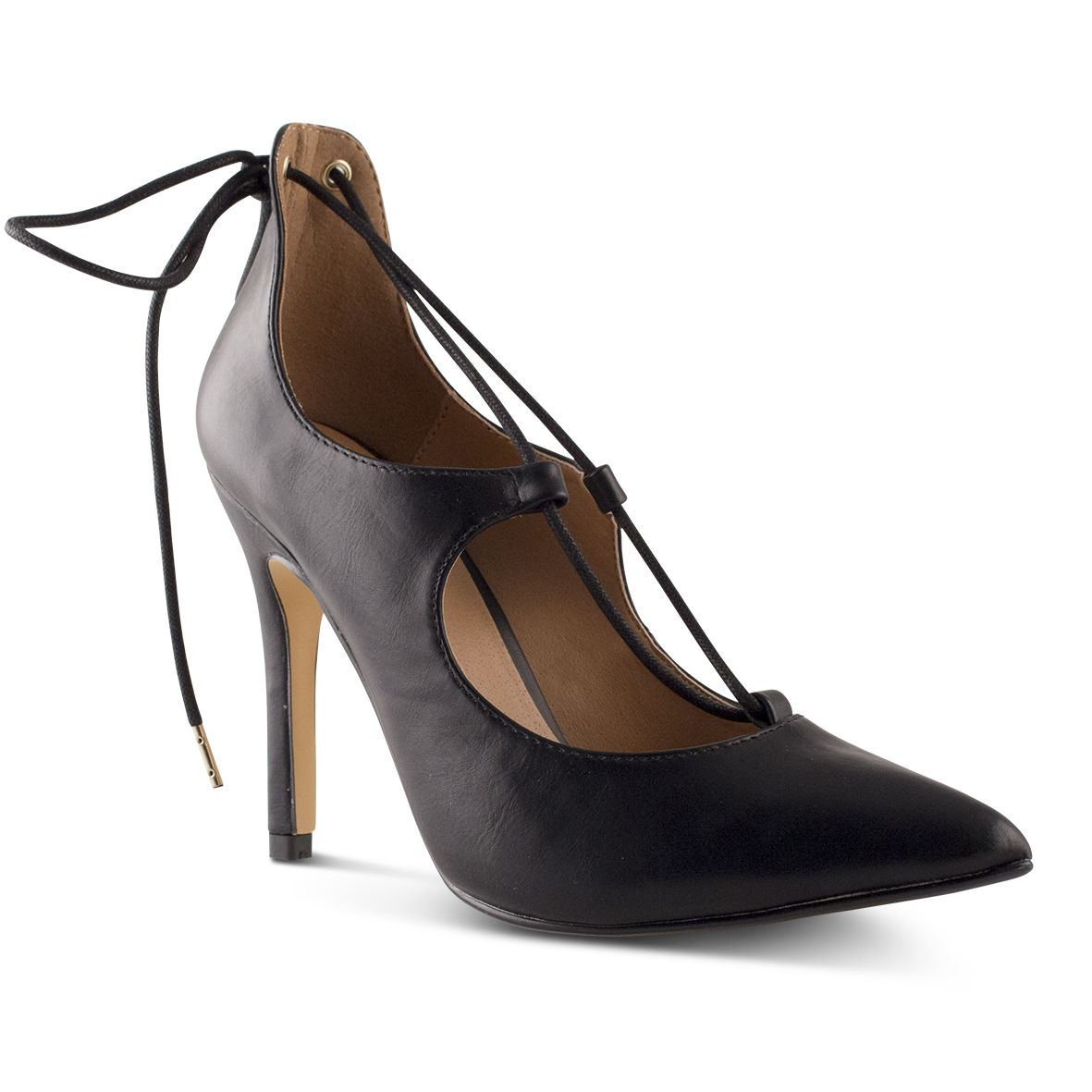 d1343fc652bb Womens Jessica Black Gillie Lace Up High Heel with Pointed Toe By ...