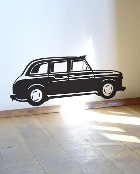 black london taxi cab wall sticker decal | sarah's room | pinterest