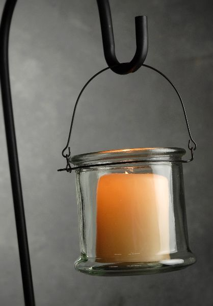 Eastland Glass Candle Holder With Handle 4 75 X 5 0