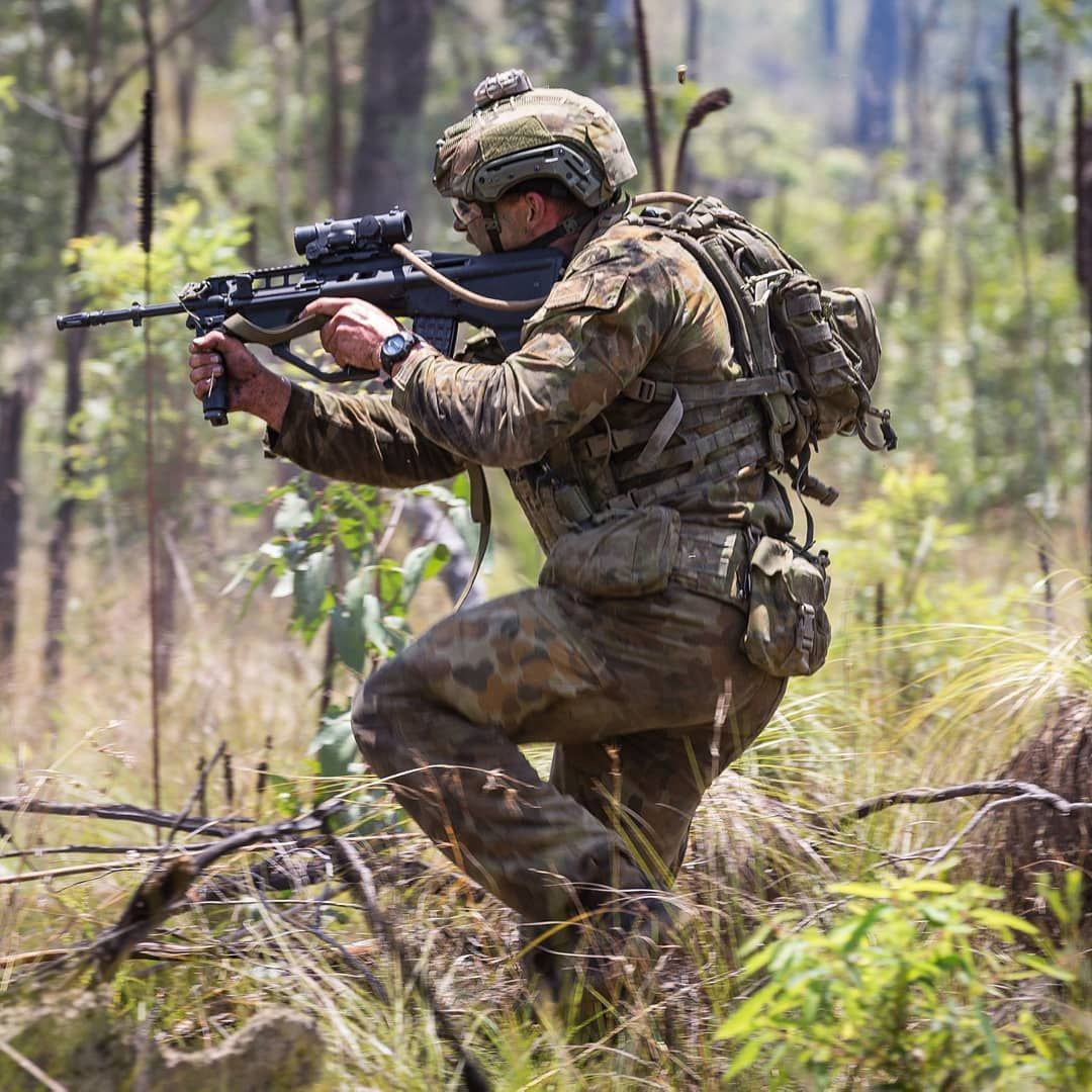 Australian Army Soldier From The 8th 9th Battalion The Royal