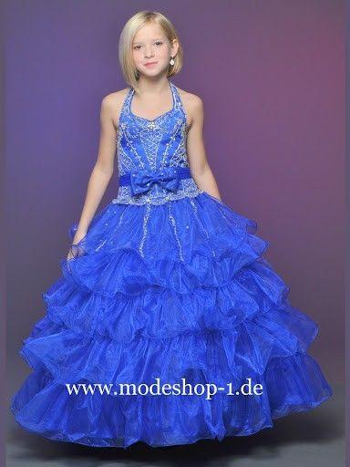 Blumen Mädchen Kleid Gladiole | Ballkleider kinder, Blaue ...