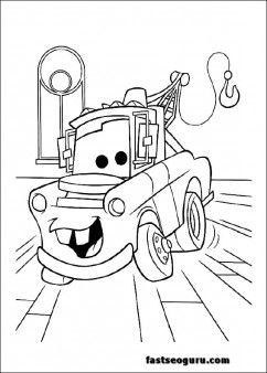 630 Cars Coloring Pages Mater , Free HD Download