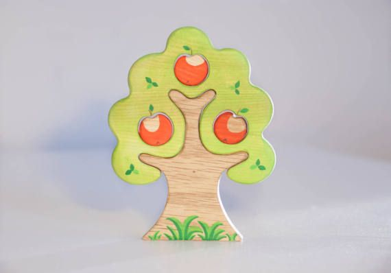 WALDORF Apple tree toy Waldorf nature table by WoodenCaterpillar