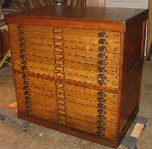 Antique Oak 16 Drawer Map Flat File Cabinet Flat File Cabinet Map Drawers Map Storage