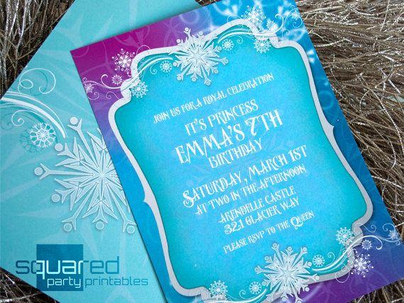 frozen invitation - printable ice princess