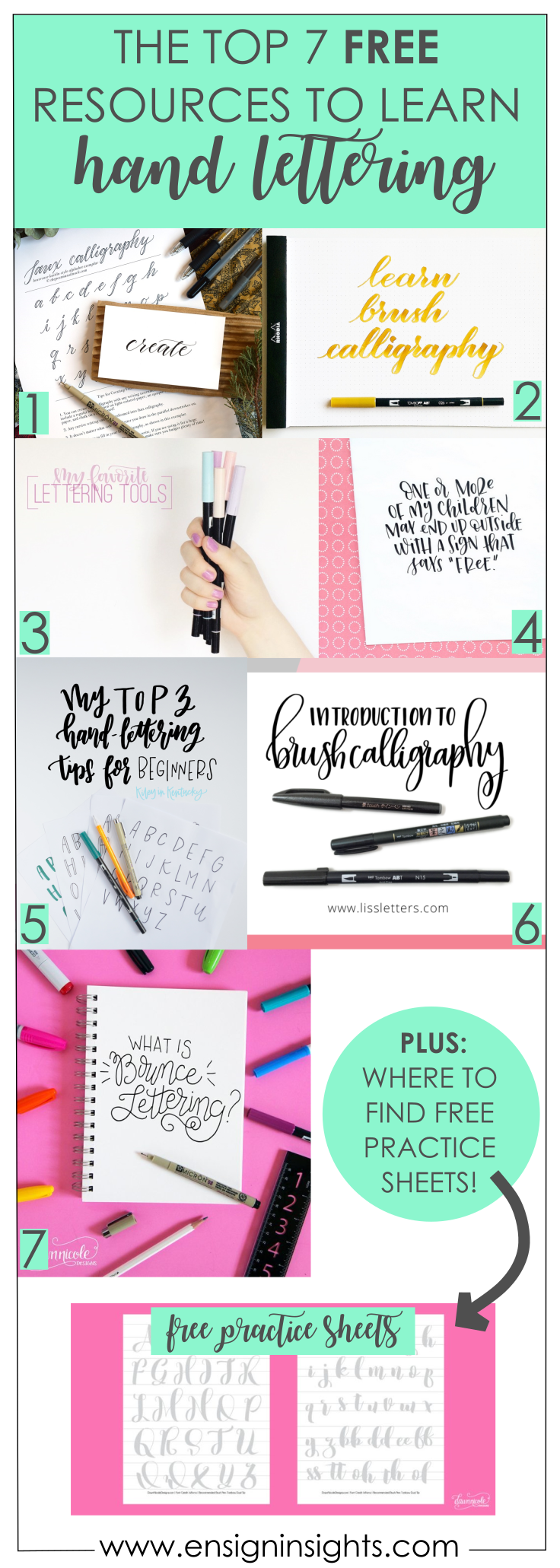 """So you want to learn the art of hand lettering? Have you asked yourself, """"How do I learn?"""" or """"Where should I start?"""" You are in the right place because this post is all abo…"""