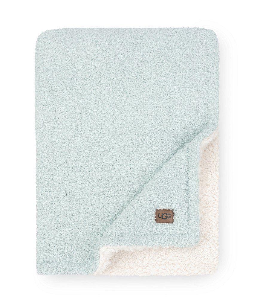 Ana sweaterknit sherpa reversible throw uggs bedding