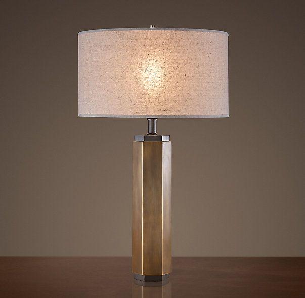 Hexagonal Column Table Lamp Lamp Vintage Table Lamp Modern Table Lighting