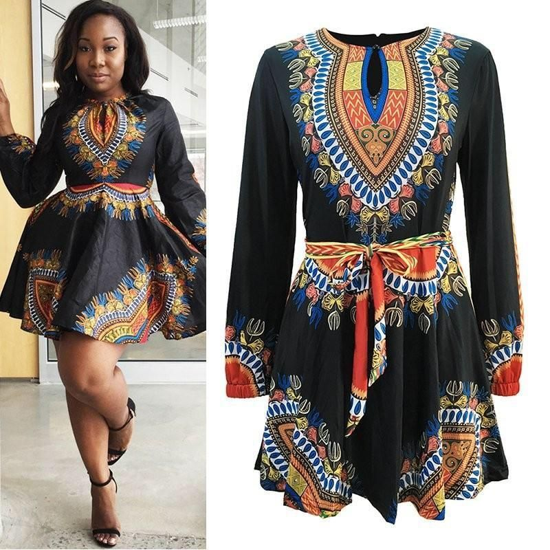 New Women African Dashiki Dress (Plus-Size Availabel ...