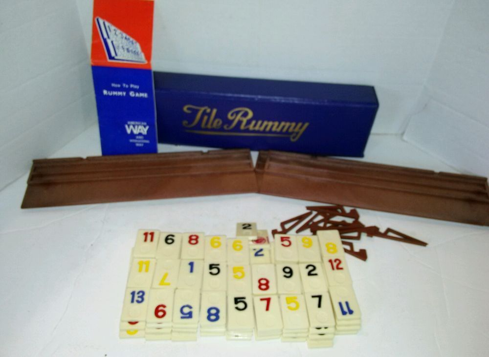 Vintage Tile Rummy Rummikub In Blue Carry Case With Instructions