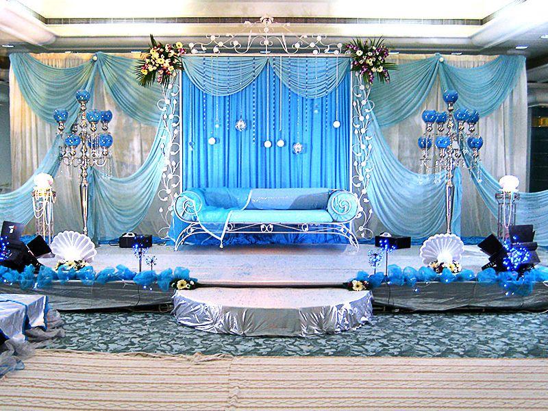 Icy Blue Decor For A Royal Wedding Weddingdecorationideas Wedding Weddingdecor Weddingdecorideas Wedding Stage Decorations Wedding Stage Stage Decorations Blur wedding hall background hd