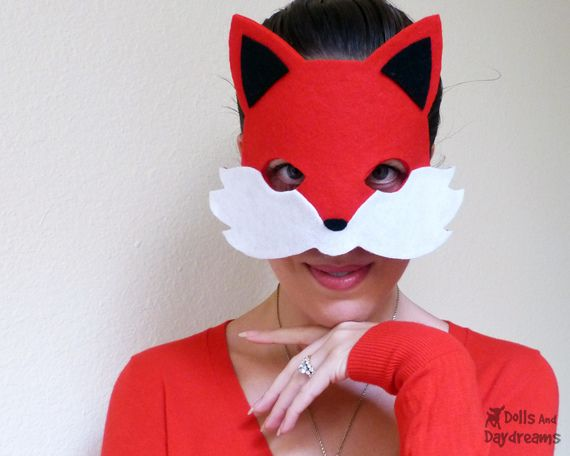 Fox Mask Sewing Pattern Tail Easy DIY Set 1 copy by Dolls And ...