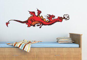 Cute Dragon Wall Sticker - Awesome Nursery Wall Decor