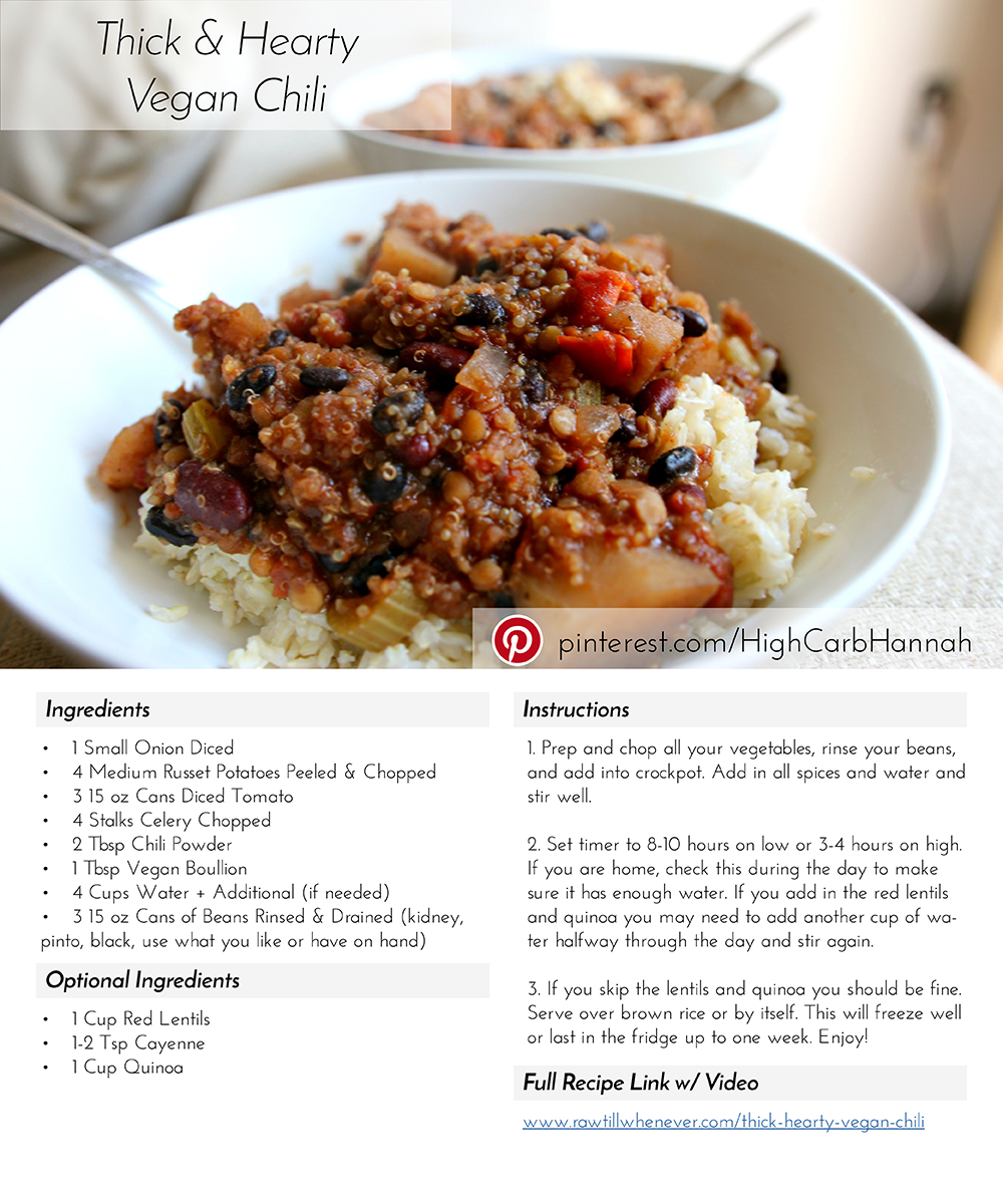 Pin by emma fox on food pinterest vegan chili vegans and check out this amazing low fat quick cheap and easy vegan chili forumfinder Gallery