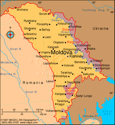 Map Of Moldova And Surrounding Countriesterritories Ukraine And - Transnistria map