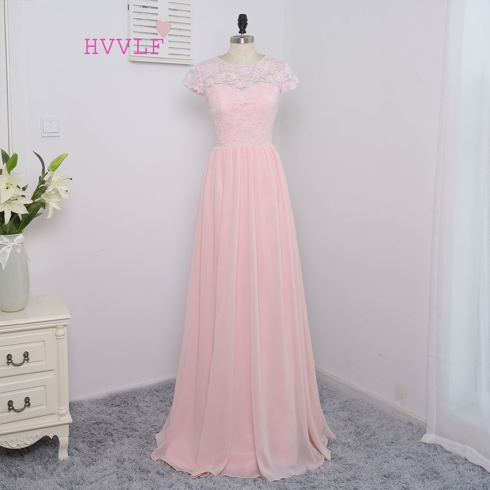 Hvvlf cheap bridesmaid dresses under aline cap sleeves