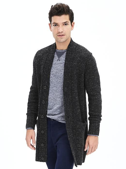 Men's Cardigans Go Long: 5 Long Cardigans for Fall | Long cardigan ...