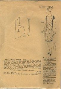 While scouring the internet looking for inspiration for a 1920s era apron I found this image from an old pattern. {via Apron History} I loved that it required only two pieces and all the instructions and supplies were listed. The only thing I had to figure out was the actual pattern for the apron. After …