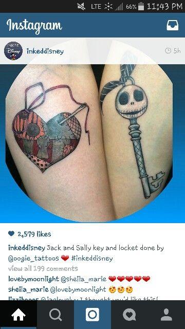 Jack and sally tattoo