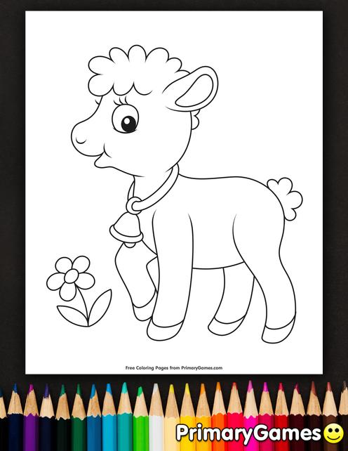 Baby Lamb Coloring Page Free Printable Ebook