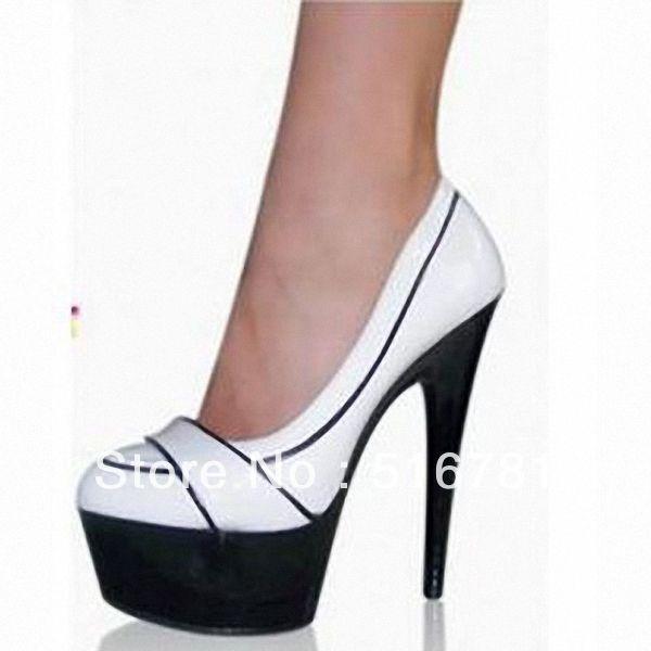 Free shipping 6 inch white wedding wedges high heel shoes closed toe heels  15cm New Ladys Fashion Platform Pumps Women Charming  67.99