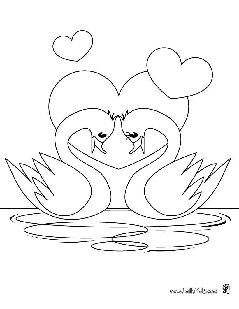 swan coloring pages